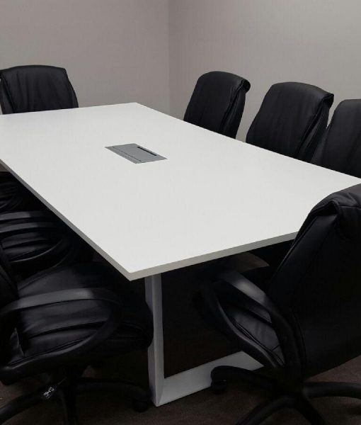 Custom 10 foot rectangular conference table w white metal for 10 foot conference table