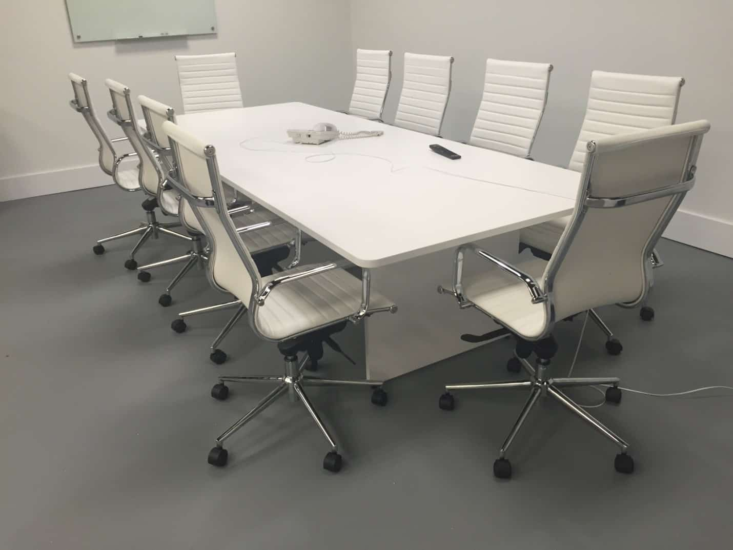 foot slab base modern conference table  direct office solutions -