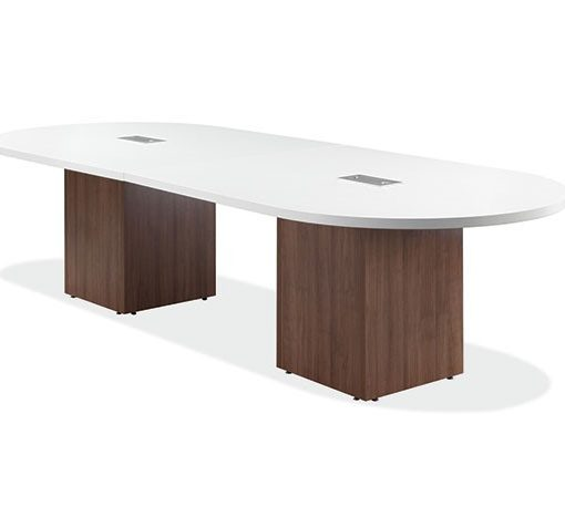 Ingot series racetrack conference table 12 foot with for 12 ft conference table