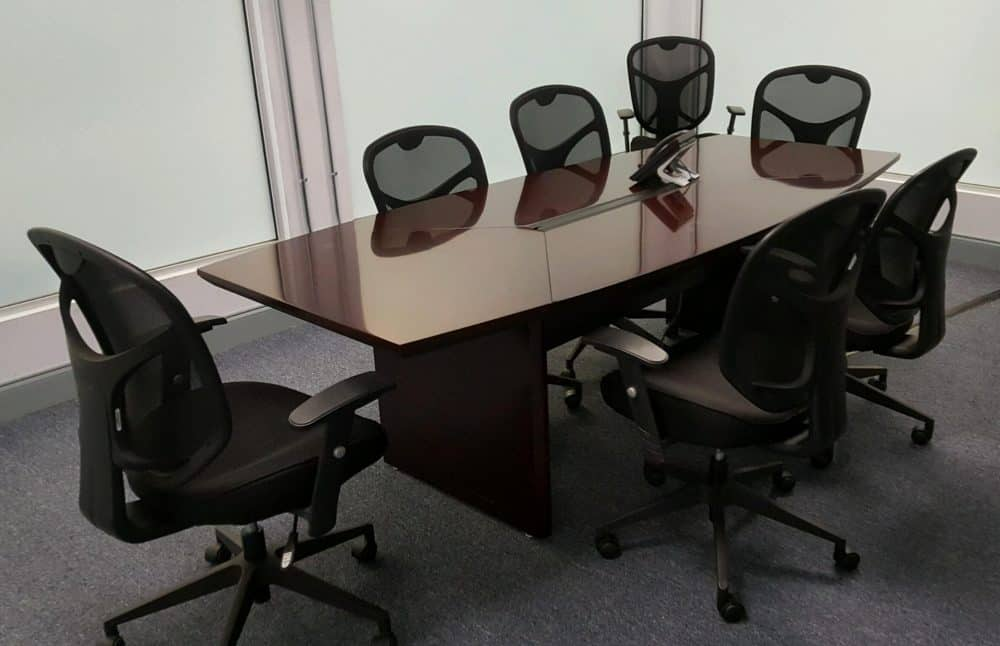 8 Foot Boat Shape Wood Veneer Conference Table Direct