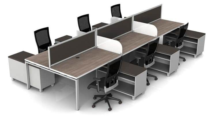 Hobe Benching Workstations by Symmetry Office - Direct Office ...