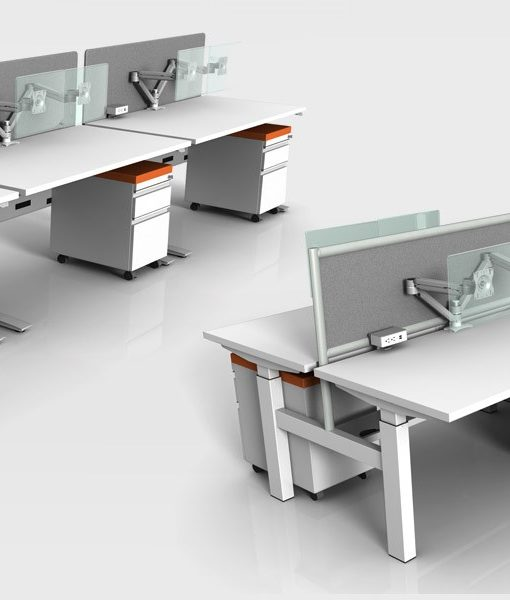 Sit Stand Electric Benching Workstations by Symmetry Office ...