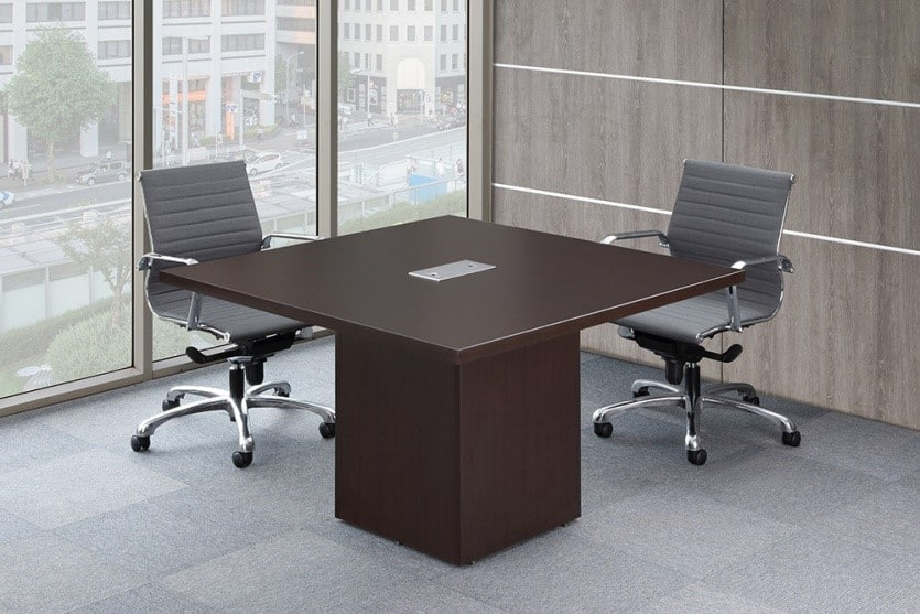 """48"""" conference table with cube baseoffice source - direct"""